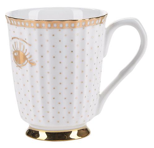 Miss Étoile - Gold galore krus med hank - gold/white