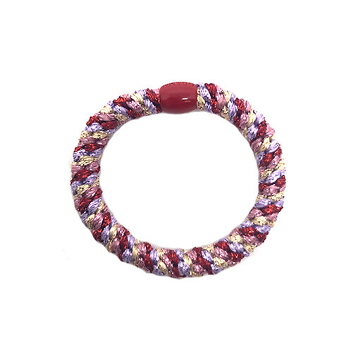 By Stær Hairties – multi red, purple, gold metallic