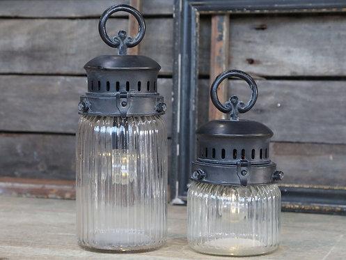Chic Antique - Fransk stald lanterne - H30 cm.