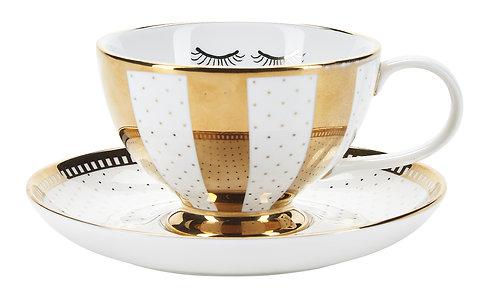 Miss Étoile - Gold galore te kop og underkop - gold/white