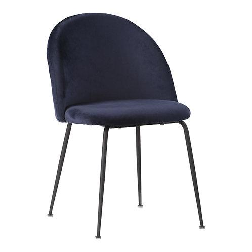 House Nordic - 2 stk. Geneve Spisebordsstol - Velour - Blå