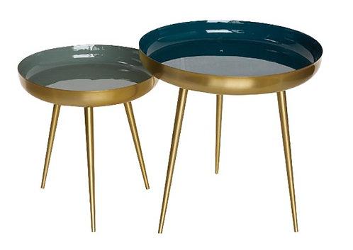 AU Maison - Nesting Frame bordsæt - Petrol/Verte/Gold