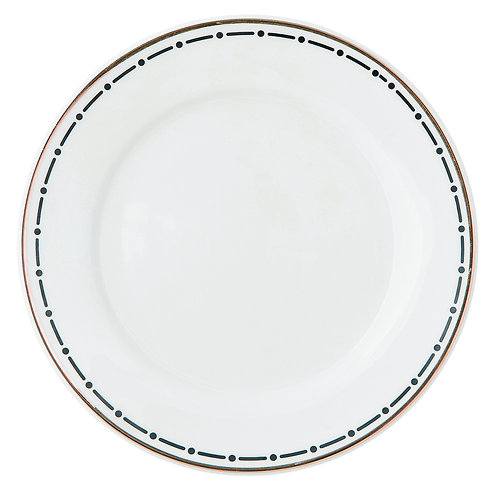 Miss Étoile - Line & dot tallerken lille - White/Black
