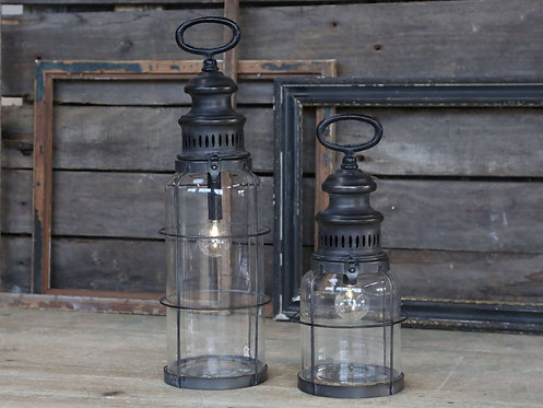 Chic Antique - Fransk stald lanterne - H32 cm.