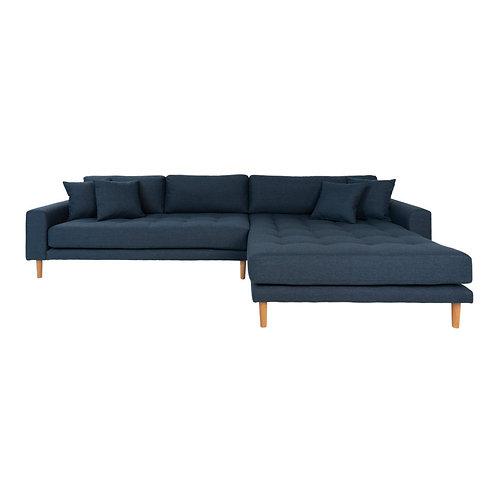 House Nordic - Lido Lounge sofa højrevendt i mørkeblå
