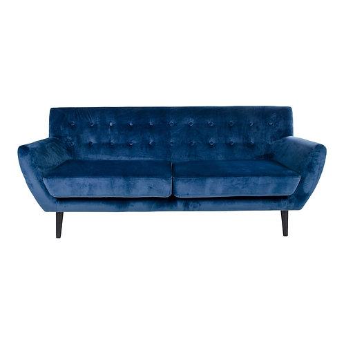 House Nordic - Monte 3 Personers Sofa - Velour - Mørkeblå