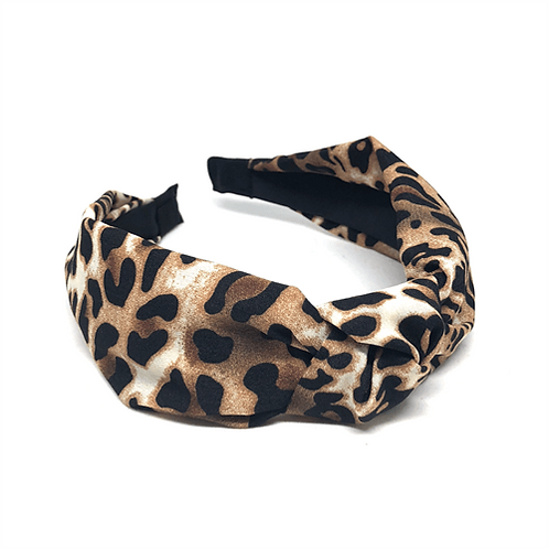 By Stær Hårbøjle med knude – NO. 080 leopard brown