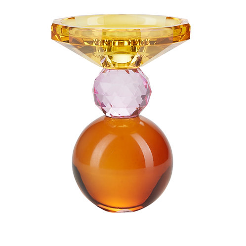 Miss Étoile - Krystal lysestage -  yellow/rose/amber