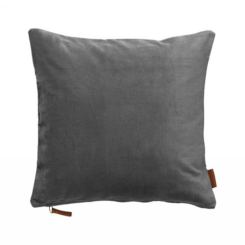 Cozy living - Velour pude - Cool grey