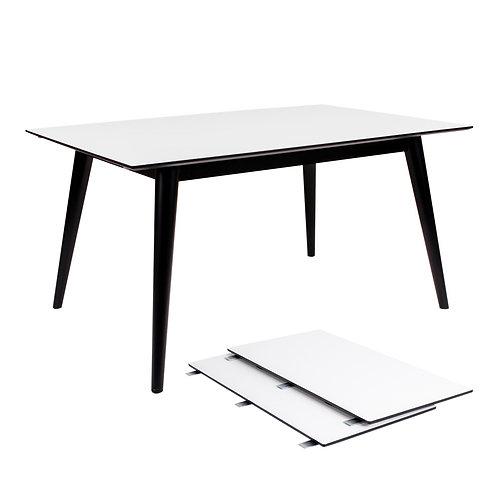 House Nordic - Copenhagen Spisebord - Hvid/Sort 150/230x95