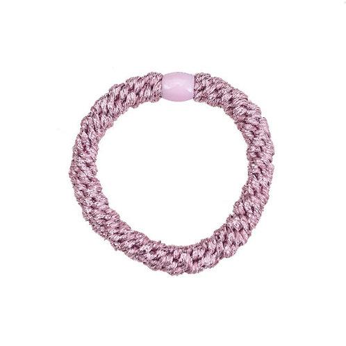 By Stær Hairties – glitter antique rose metallic