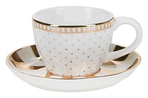 Miss Étoile - Gold galore espresso kop og underkop - gold/white