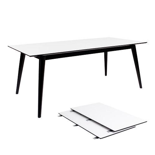 House Nordic - Copenhagen Spisebord - Hvid/Sort 195/285x90