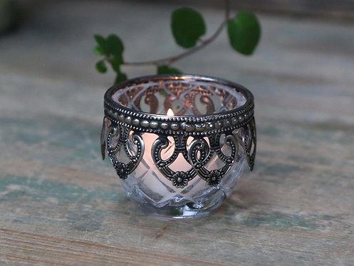 Chic Antique - Fyrfads stage med sølvdekor