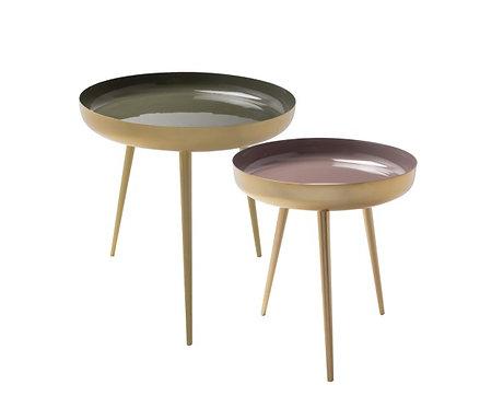 AU Maison - Nesting Frame bordsæt - Moss Green/Lavender