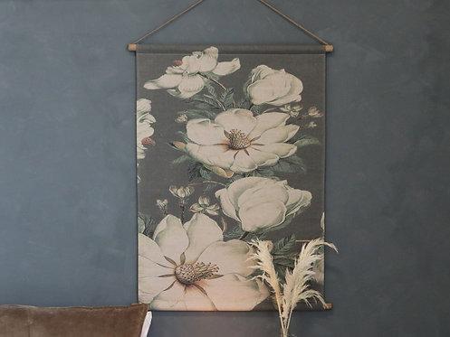 Chic Antique - Lærred til ophæng m. blomstermotiv