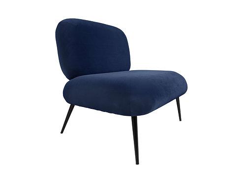 Present Time - Stol puffed mørk blå