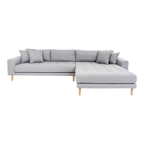 House Nordic - Lido Lounge sofa højrevendt i lysegrå