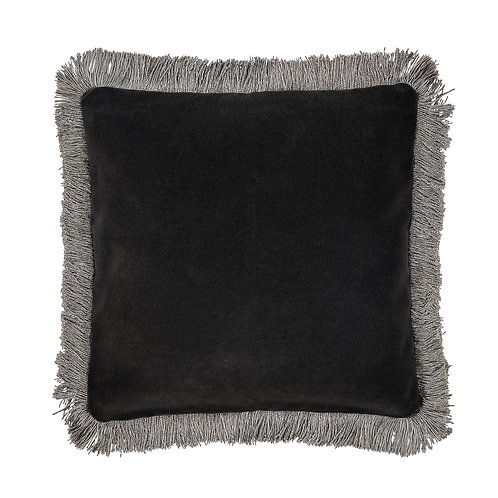 Cozy living - Zenia mini fringe pude -Coal