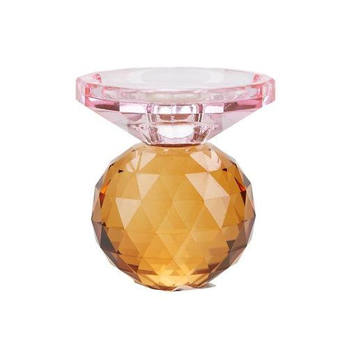 Miss Étoile - Krystal lysestage - rose/amber