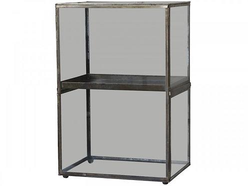 Chic Antique - Display i glas m. udtagelig bakke