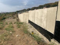 Завершение стройки подпдрной стены