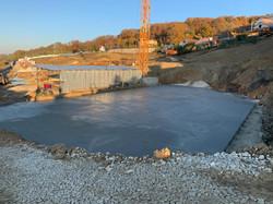 Устройство бетонной подготовки секция 1