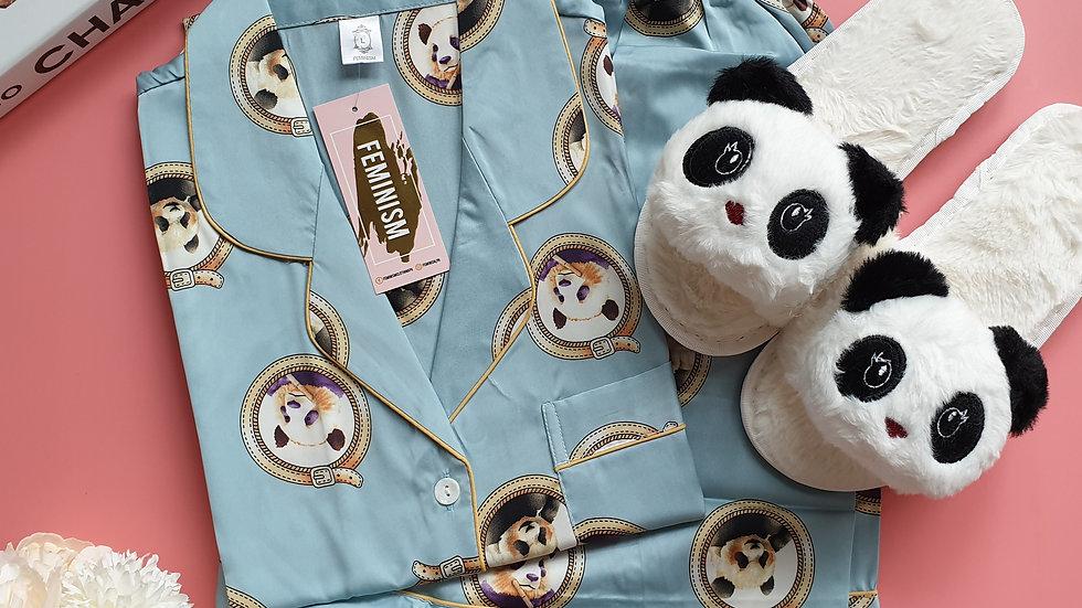 Panda blue SS+ Panda slippers
