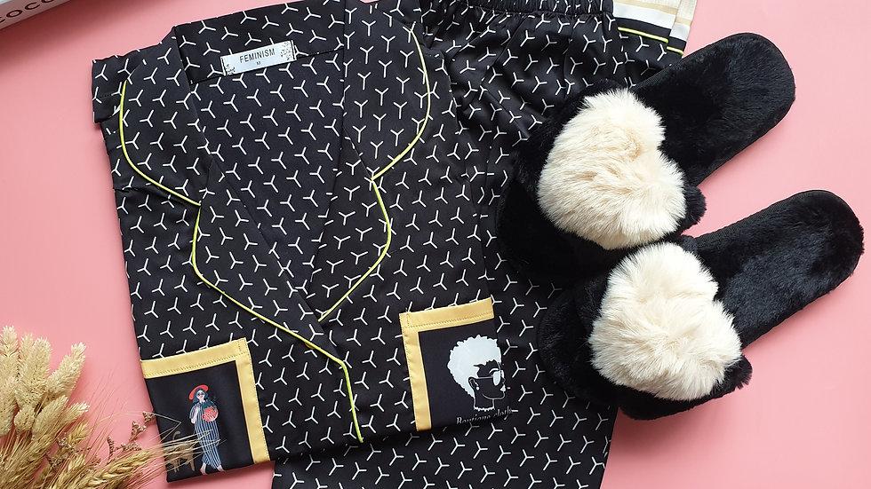 Fida Black LP+ Paris slippers