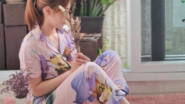 Violet Shortsleeve Pajama