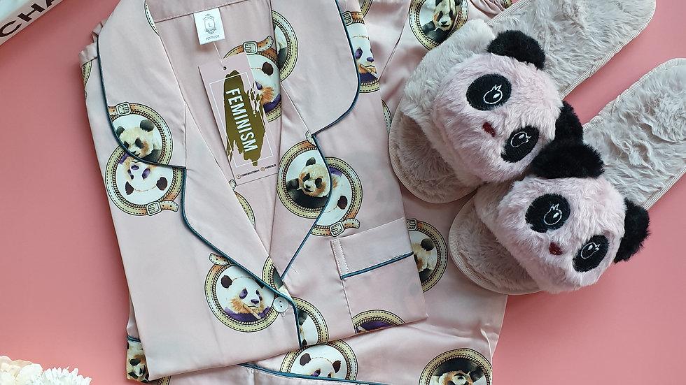 Panda Pink SS+ Panda slippers