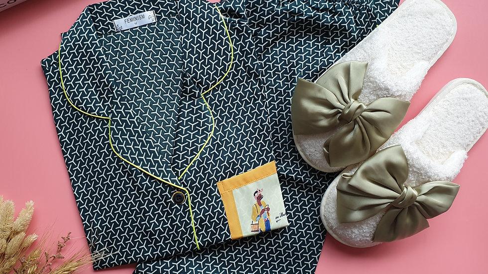 Fida Green LP+ Cheska slippers