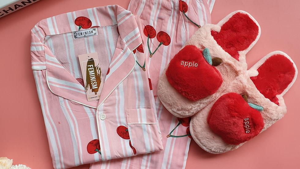 Cherry SP + Apple slippers