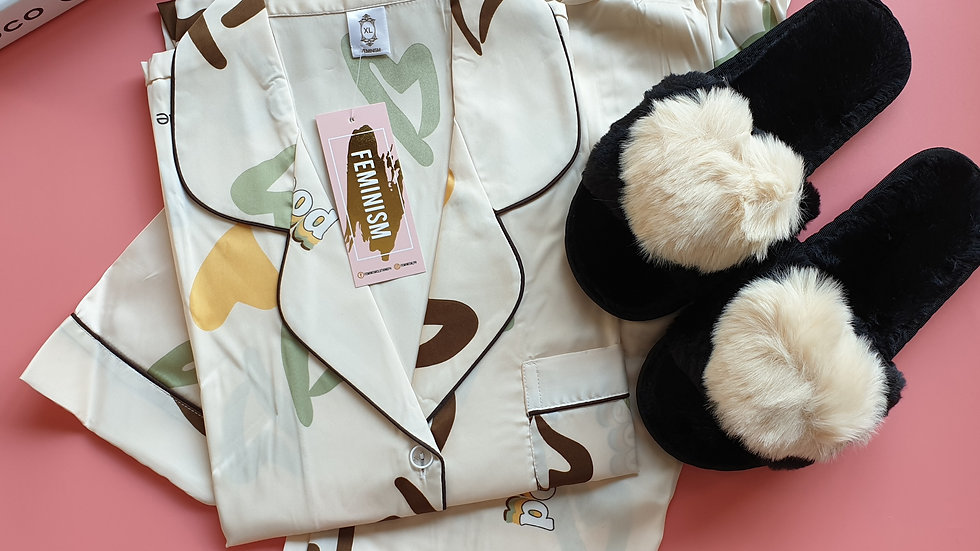 Heart White SP+ Paris slippers