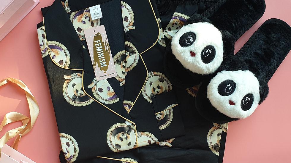 Panda black SS+ Panda slippers