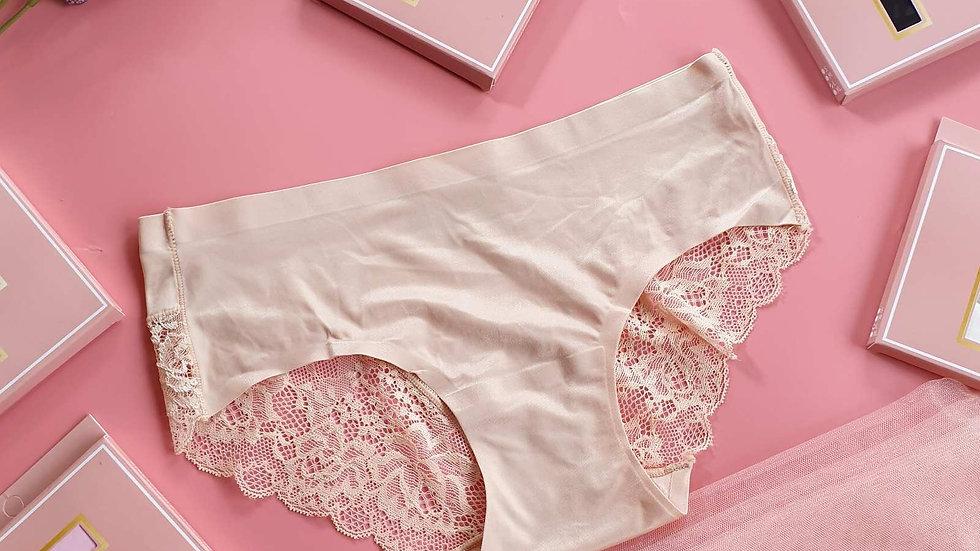 Seamless half lace underwear