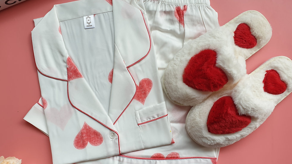 Eve white SS+ Sweetheart slippers