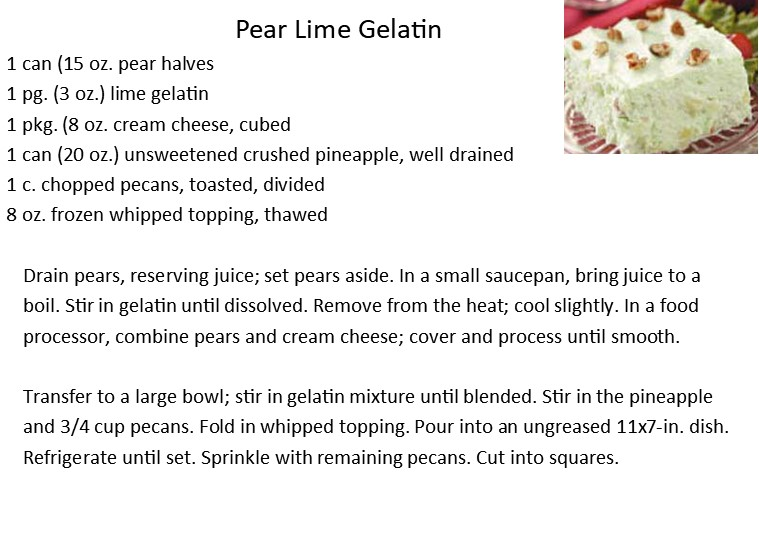 Pear Lime Gelatin