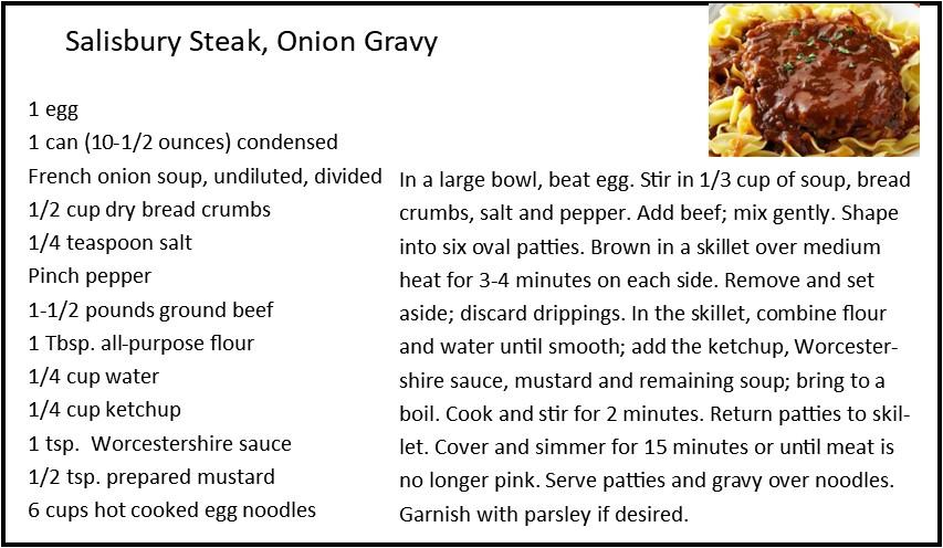 Salisbury Steak in Onion Gravy