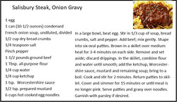 Salisbury Steak in Onion Gravy