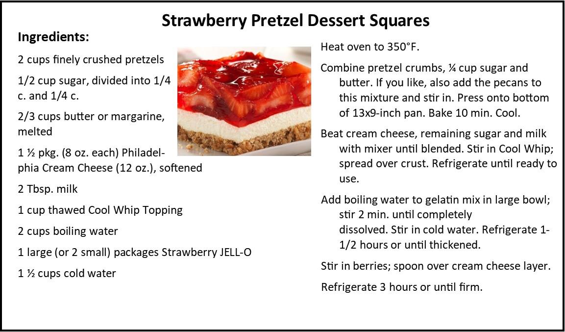 Strawberry Pretzel Dessert Squares