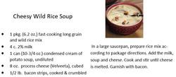 Cheesy Wild Rice Soup