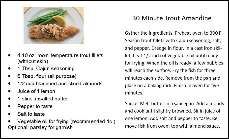30 Minute Trout Almandine