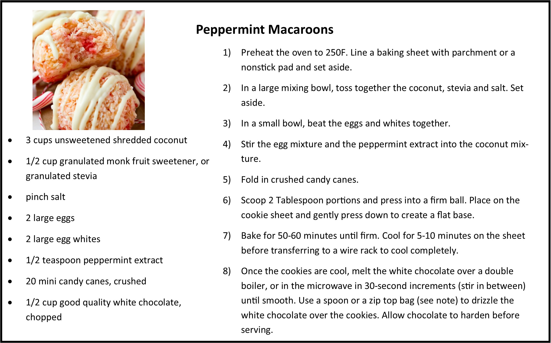 Peppermint Macaroons