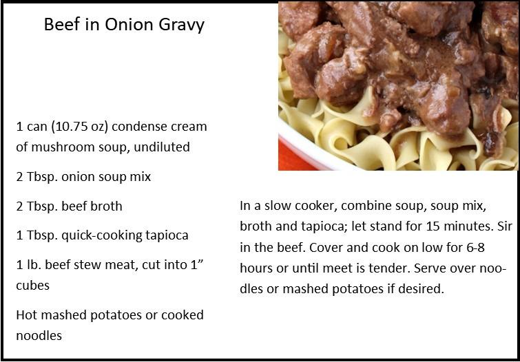 Beef in Onion Gravy