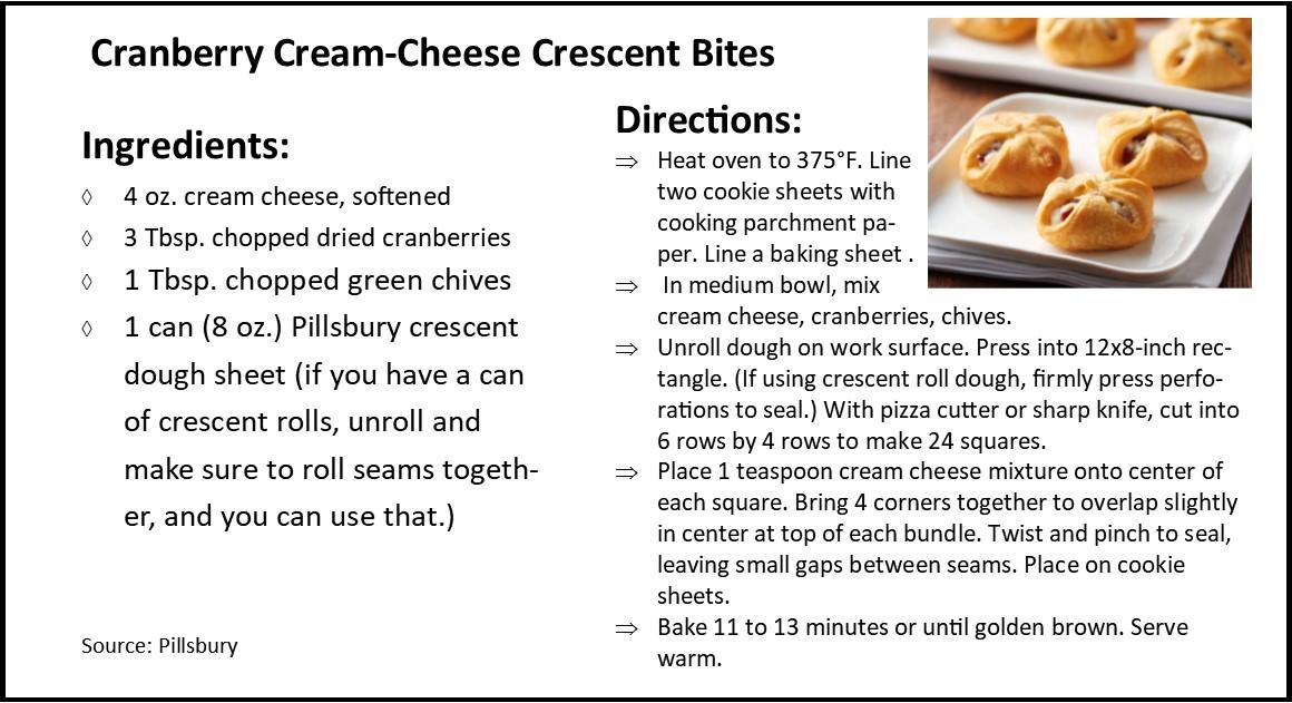 Cranberry Cream-Cheese Crescent Bites jp