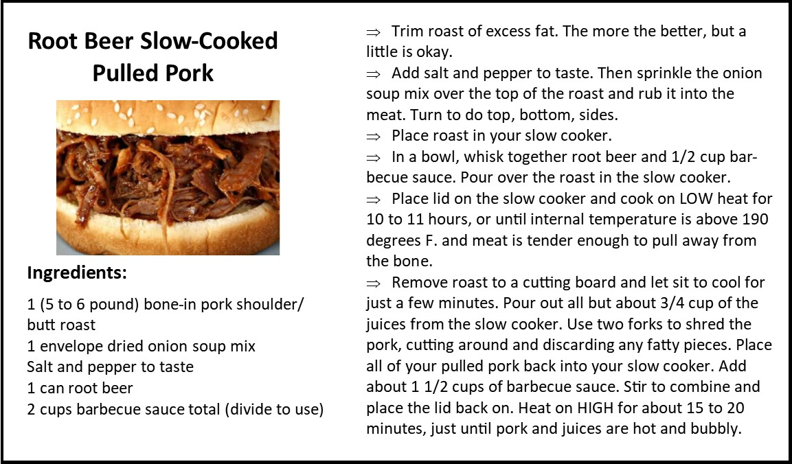 Root Beer Slow Cooked Pulled Pork