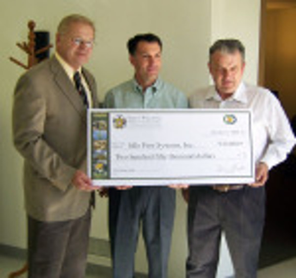 $250,000 Wisconsin Energy Independence Fund Check Presentation to Idle Free (Robert Jordan shown on right)