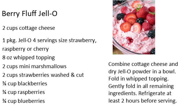 Berry Fluff Jello