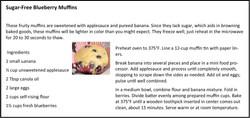 Sugar-Free Blueberry Muffins